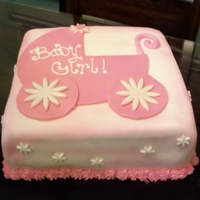 Girl Baby Shower Cake This was a very last minute cake order.