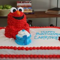 Elmo For a first birthday party. The whole cake, including Elmo gave me a heck of a time and didn't turn out how I envisioned. But, ended...