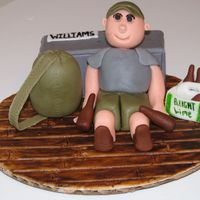 Army Guy With His Beer This was done for an army guy's birthday. It was also the day he came home from boot camp. Comments welcome!