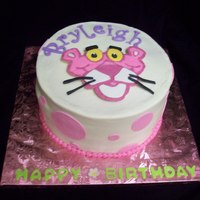 Pink Panther All buttercream with fondant accents
