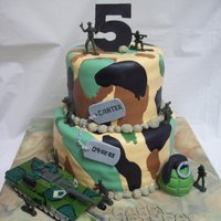 Army Theme All edible except the soldiers and the tank.