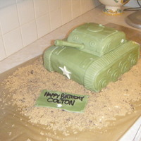 Tank Cake army themed birthday party