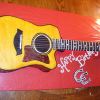 Guitar Cake This was my first guitar cake and i loved making it!