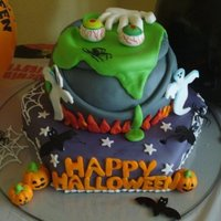 Halloween Cake!! This cake was made for my son's birthday. All the decorations in fondant and extended details on glass. I really enjoy! This year my...