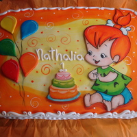 Pebbles!!! Hand painted on fondant. All decoration from fondant. Painted with vegetable colours