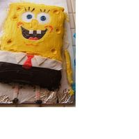 Spongebob Square Pants This was done all by hand,carved,then used fondant & frosted.