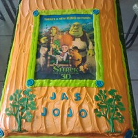 Shrek The Final Chapter This was made for my grandchildren - Jasmine 6 and Josiah 2 whose birthdays are a few days apart. Edible image with cream cheese frosting...