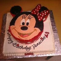 Minnie Birthday Cake I saw a cake like this here and since my niece loves Minnie thought I'd give it a shot. Fingers had started finding their way to it by...