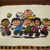 "Charlie Brown This cake was made for an youth acting group's strike celebration for the play ""You're A Good Man Charlie Brown"". This..."