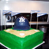 Ny Yankees Cake NY Yankees cake for an 80 Yankees fan. Thanks to nmmorse for the brim instructions & everyone for all the ideas!!