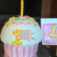 Giant Cupcake This was made with two 8 in layers for the bottom and the soccer ball mold + a ten in layer for the top. Both are covered with fondant with...