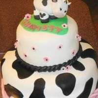 "Cow Thx to all CC users for giving me inspiration. All the accents are fondant. There are a few ""hidden Mickeys"" in there because my..."
