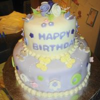 Purple Butterflies This was for a fan of both purple and butterflies. All details were done in fondant with a little luster dust.