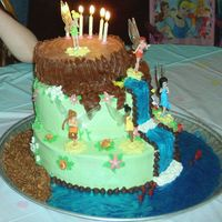 Becca's 5Th Birthday this cake combines parts of other tinkerbell cakes i saw on this web site. i printed a few diffrent cakes to show my daughter and she...