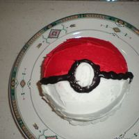 Pokeball My son & I share a birthday. I made little layer cakes for me & pokeballs for my little Pokemon fanatic.