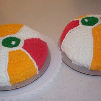 Beach Ball Cakes For End Of School I made beach ball cakes as a celebration of the end of school 2008. I also bought dollar store beach balls and donated them to the...