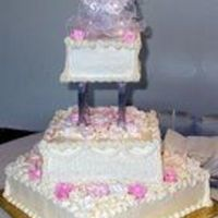 My Uncles Wedding Cake   Square teirs, picture makes the colors look really harsh.