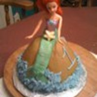 Smash Cake For 1St Birthday My boss's granddaughter was 1. The party theme was The Little Mermaid. I posted the cake for the party guest. This was Syndle's...