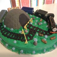 Retired Railroad Man I made this cake for a friend at work. His daddy retired from the railroad some years ago and they were having an 80th birthday party and...