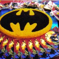 Batman My aunt had me make this cake for her grandson (my 2nd cousin). It was a hit by all and fit right in.