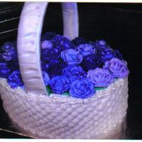 Basket Of Flowers Tried out the basket weave for my first time and this is what I came up with.