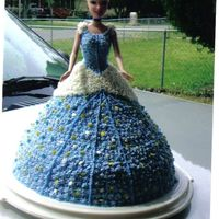 Cinderella Cake bundt cake with bc icing. stars were added to show the magical effect of her changing into her dress