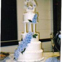 First Wedding Cake So this is the first wedding cake that I have made, they also had me make the groom's cake which was a chess board. I was informed the...