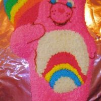 Care Bear This was a Pooh cake that I converted to a care bear. I was devastated as I watched the one year old tear into the cake that I had just...