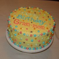 Polka Dot Cake   This was my first attempt at cake decorating!