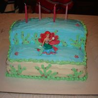 Little Mermaid Cake   Yet another first attempt!