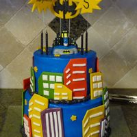Batman Buttercreme and fondant. Idea from Pebbles1727.