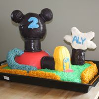 Mickey Mouse Clubhouse This was for my daughter's 2nd birthday. Except for a few dowels for support the cake is 100% edible out of cake and RKT. It's...