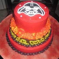 Starwars  made this cake for a little girl who wanted star wars cake. I really wanted to make it pink instead of red, but the mother said she'd...