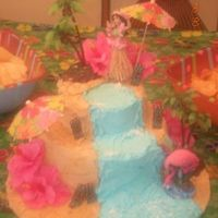 Luau Little cousins 8th bday cake