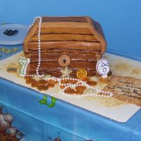 Treasure Chest My kids bday cake...thanks for the help miffy!