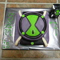 Ben 10 Watch One of my first attempts at a fondant covered cake. This was for my son's 7th birthday in 2009. He loved it!