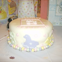 Baby Pastels Covered in fondant with fondant details