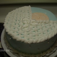 Basket Baby My first baby shower cake. All buttercream