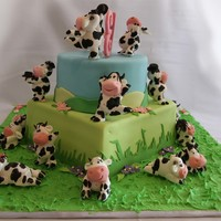 Cow Crazy! I could have carried on making cows till they came home!! Lots of fun!! TFL