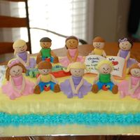 Classroom Of Kids I made this cake for my daugter's last day of preschool. Each child had their own little gumpaste self to eat. They thought it was...