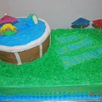 Swimming Pool Made for a swimming party to kick of summer.
