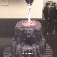 Birthday Cake Customer supplied the martini glass and this is what I came up with. I filled the glass with gelatin I colored purple. The strawberry is...