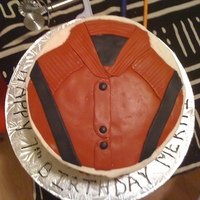 Michael Jackson Jacket I made this cake for a friends 7 year old son. He loves MJ, specifically the Thriller video and I totally forgot I agreed to do it until a...