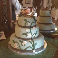 Daisy Wedding Cake My second ever wedding cake!! I'm really happy with the way this turned out. Flavors were Irish whiskey cake, vanilla with fresh...