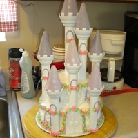 Princess Castle Cake Romantic castle cake set, minus a couple pieces! I modified the set a little because we made a smaller cake. Fondant on the turrets,...