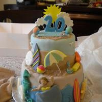 Beach Cake My sister wanted a beach cake for her birthday, so I took ideas from here and came up with this. Last summer she was at the beach and had...