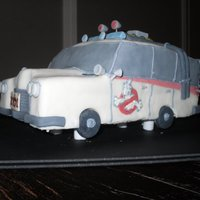 Ecto 1 Ecto 1 groom's cake. Orange pound cake with vanilla buttercream, kind of like a Dreamsicle! Covered in fondant with fondant and...