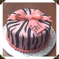 Pink And Black Zebra Birthday   My husband and I made this zebra cake for a friend who was celebrating her birthday. I was very happy with how the stripes turned out. :)