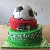 Az Soccer Champion The Netherlands 2009   I made this cake for a fan of the club, mainly to make all the other clubs fans jealous!