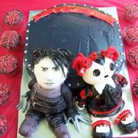 Edward Scissorhands & Living Dead Doll Cake Myself & best friend did this for a 16yr olds birthday party at a historic prison recently. She wanted her favorite doll & Johnny...